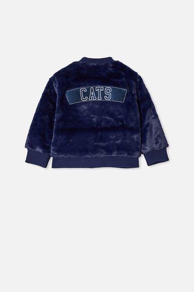 Afl Kids Fur Bomber Jacket, GEELONG