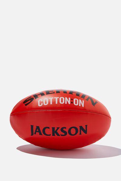 Afl Personalised Sherrin Football, SHERRIN RED