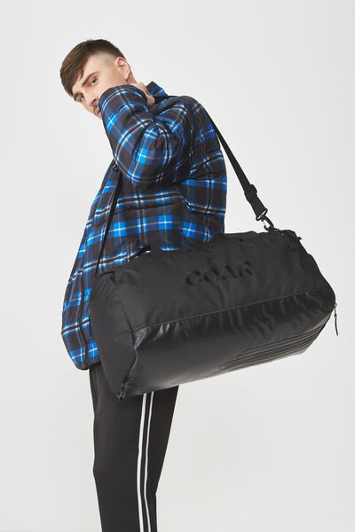 Coar Gym Bag, BLACK BLANK