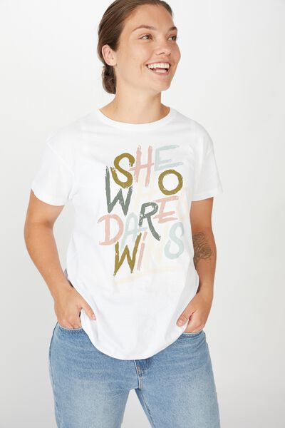 Aflw Genw Tee - Womens, WHITE / SHE WHO DARES WINS