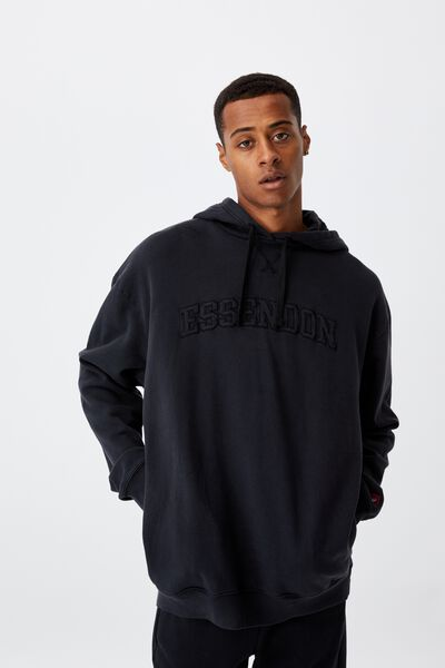 Afl Mens Embroidered Hoodie, ESSENDON