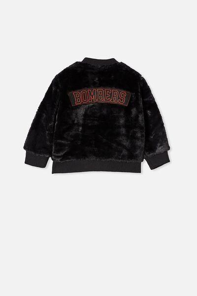 Afl Kids Fur Bomber Jacket, ESSENDON