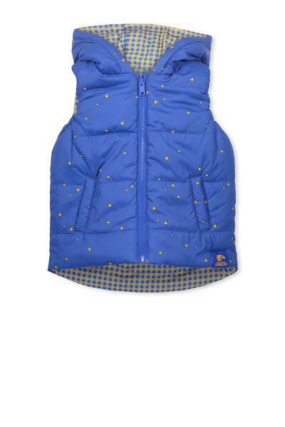 Afl Kids Reversible Puffer Vest, WEST COAST EAGLES
