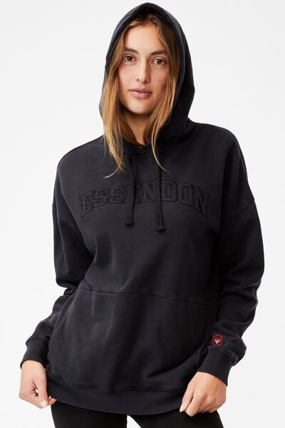 Afl Womens Embroidered Pocket Hoodie, ESSENDON