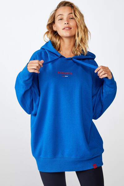 Nrl Womens Embroidered Hoodie, KNIGHTS