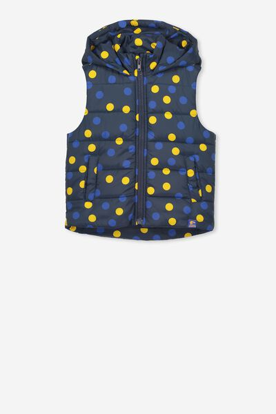 Afl Girls Puffer Vest, WEST COAST EAGLES
