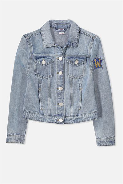 AFL Girls Denim Jacket, WEST COAST EAGLES