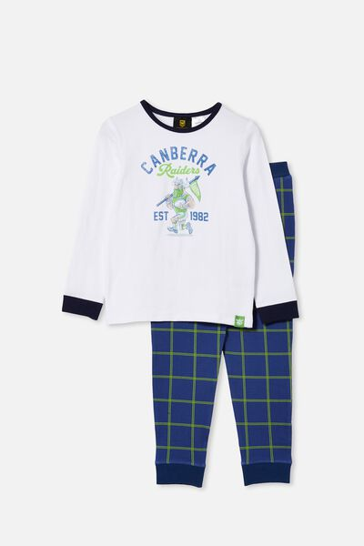 Nrl Kids Mascot Ls Pyjama Set, RAIDERS