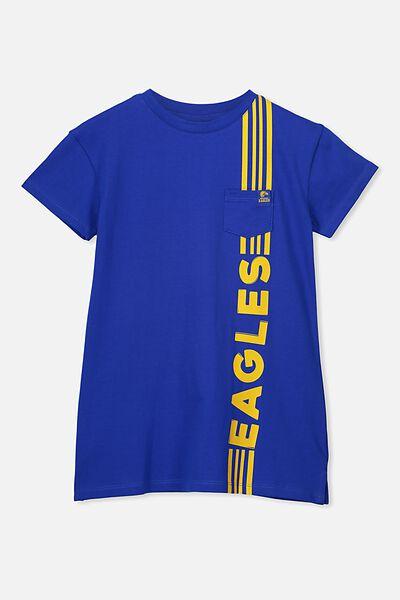 Afl Girls T-Shirt Dress, WEST COAST EAGLE
