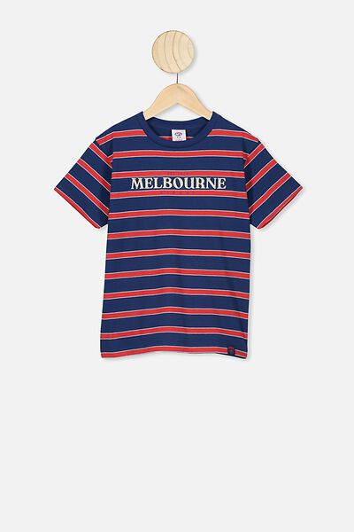 Afl Kids  Stripe Logo T-Shirt, MELBOURNE