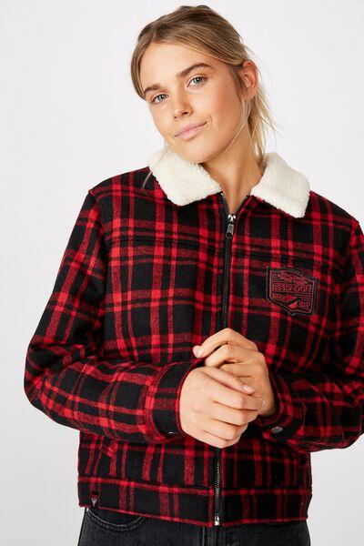 Afl Womens Sherpa Jacket, ESSENDON