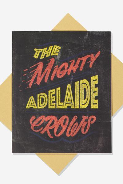 Afl Greeting Card - Chalk Design, ADELAIDE