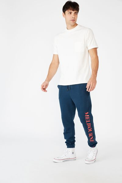 Afl Mens Old School Track Pant, MELBOURNE