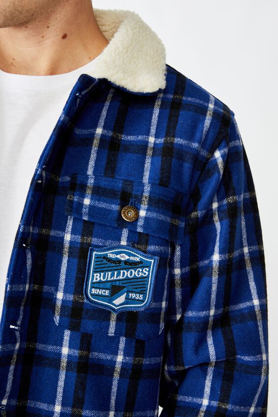 Nrl Mens Sherpa Jacket, BULLDOGS