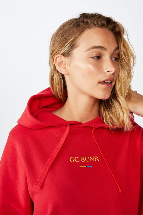 Afl Womens  Embroidered Hoodie, GOLD COAST