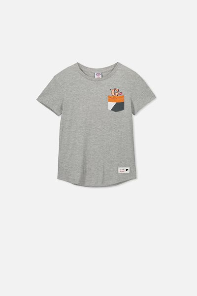 Afl Kids Pocket Print Tee, GWS