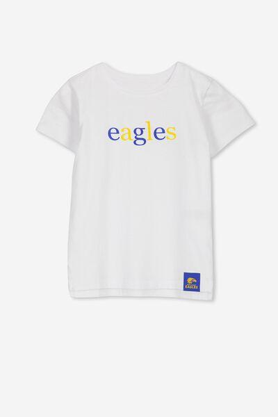 Afl Kids Text Tee, WEST COAST EAGLES