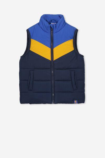 Afl Kids Puffer Vest, WEST COAST EAGLES