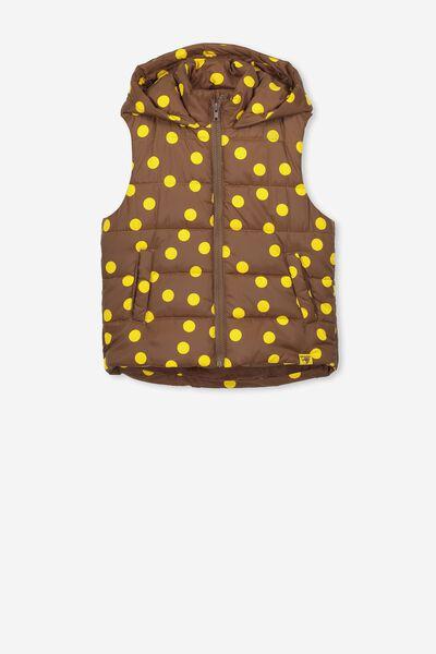 Afl Girls Puffer Vest, HAWTHORN