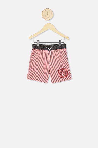Nrl Boys Stripe Board Short, DRAGONS