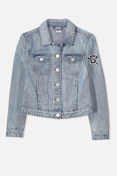 AFL Girls Denim Jacket, GEELONG