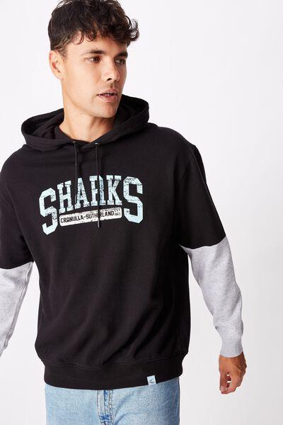 Nrl Mens Panel Hoodie, SHARKS