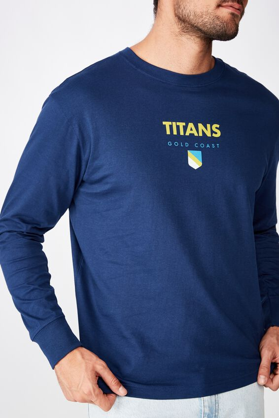 Nrl Mens Graphic Long Sleeve, TITANS