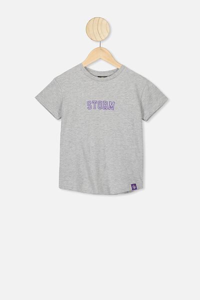 Nrl Kids Outline Graphic T-Shirt, STORM