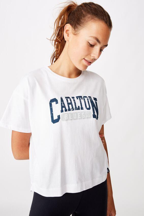 Afl Womens Cropped T-Shirt, CARLTON