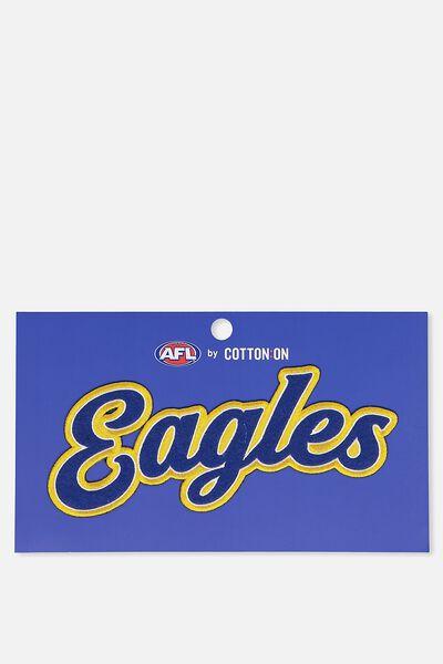Afl Personalised Badge 3 - Club, WEST COAST EAGLES