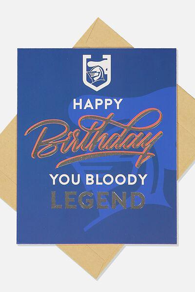 Nrl Legend Greeting Card, KNIGHTS