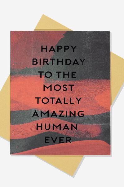 Afl Birthday Card - Amazing Human, ESSENDON