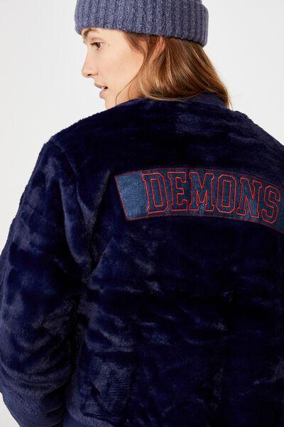 Afl Womens Fur Bomber Jacket, MELBOURNE