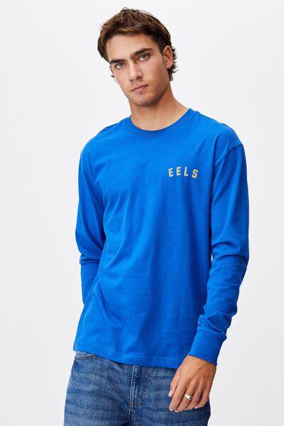 Nrl Mens Number Long Sleeve Top, EELS