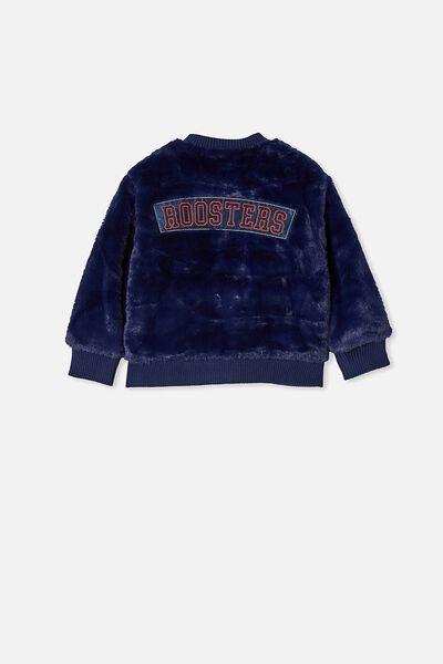 Nrl Kids Fur Bomber Jacket, ROOSTERS