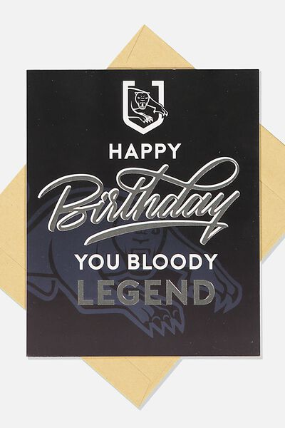 Nrl Legend Greeting Card, PANTHERS
