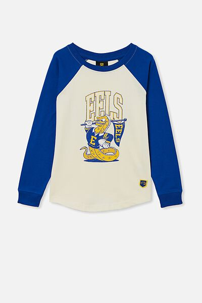 Nrl Kids Raglan Ls Top, EELS