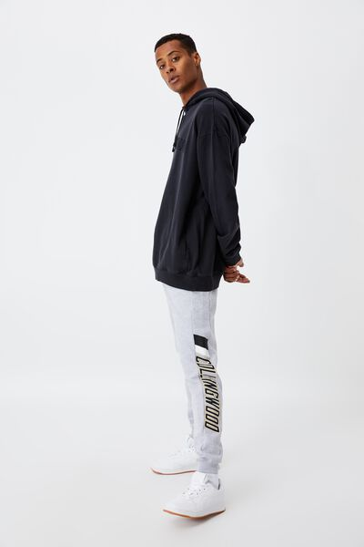 Afl Mens Colour Block Track Pant, COLLINGWOOD