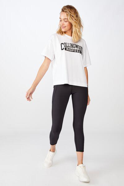 Afl Womens Cropped T-Shirt, COLLINGWOOD