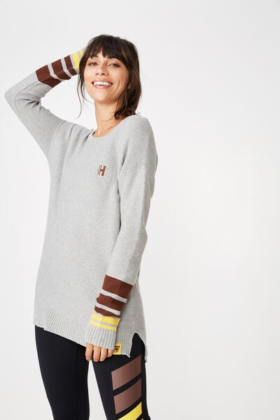 Afl Ladies Archie Knitted Pullover, HAWTHORN