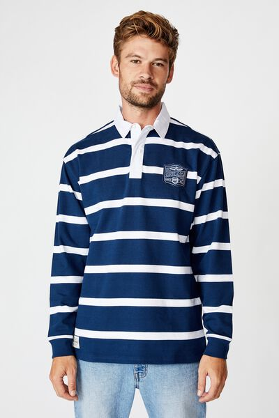 Afl Unisex Old School Rugby Polo, GEELONG