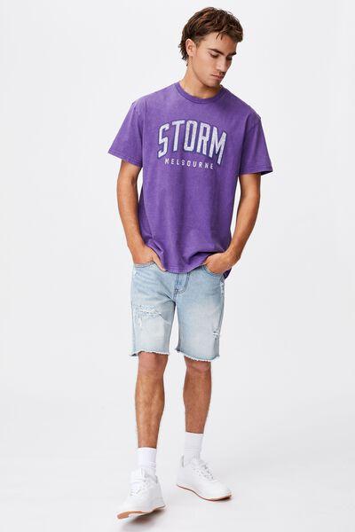 Nrl Mens Collegiate T-Shirt, STORM
