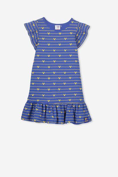 Afl Girls Frill Dress, WEST COAST EAGLES