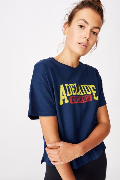 Afl Womens Cropped T-Shirt, ADELAIDE