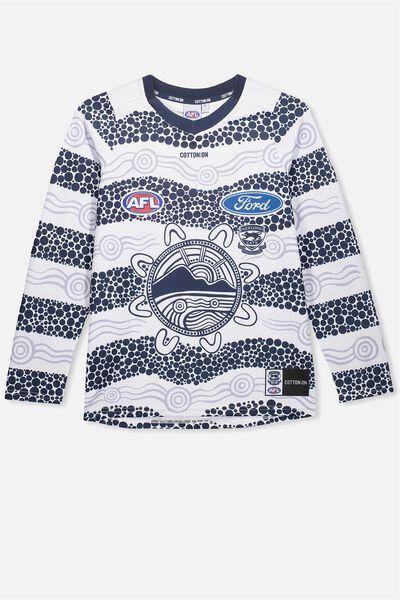 Gfc Retail Junior Guernsey - Indigenous L/S, WHITE