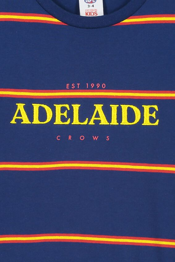 Afl Kids  Stripe Logo T-Shirt, ADELAIDE