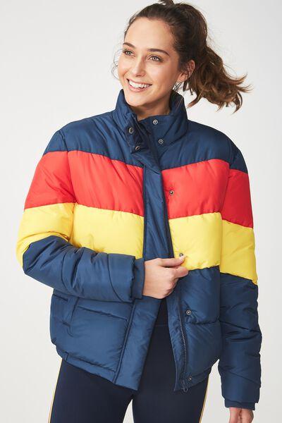 Afl Puffer Jacket, ADELAIDE