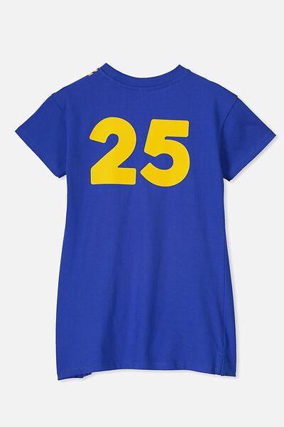 Personalised AFL Girls T-Shirt Dress, WEST COAST EAGLES