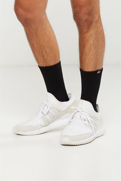 Coar Training Sock, BLACK/WHITE