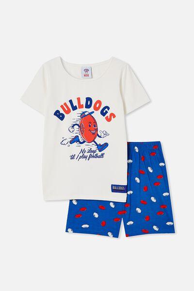 Afl Kids No Sleep Pyjama Set, WESTERN BULLDOGS